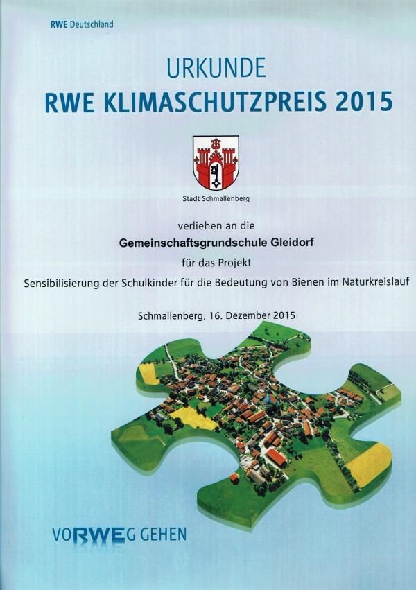 RWE Klimaschutzpreis 2015